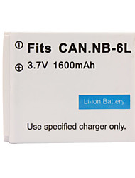 1600mAh Camera Battery NB-6L for CANON IXUS 85 IS and More