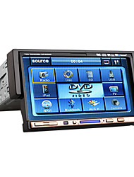 7 Inch 1 Din Car DVD Player Support RDS