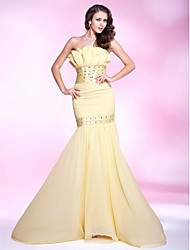 TS Couture® Prom / Formal Evening / Military Ball Dress - Elegant Plus Size / Petite Trumpet / Mermaid Strapless Sweep / Brush TrainChiffon / Stretch