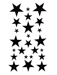 5 Pcs Star Waterproof Temporary Tattoo(17.5cm*10cm)