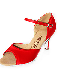 Satin Upper Latin Ballroom Dance Shoes for Women More Colors