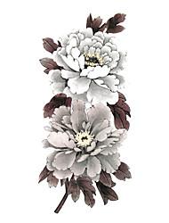 5 pcs flor tatuagem temporária à prova d'água (19 centímetros * 9 centímetros)