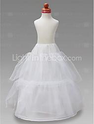 Blumenmädchen Taft Ballkleid 2 Ebenen bodenlange slip style / Hochzeit Unterröcke