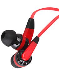 3,5 mm stéréo ligne de vêtements à plat dans-oreille headphone