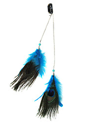 Clip-In Peacock Feather Hair Extensions