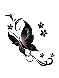 5 шт бабочки водонепроницаемый временную татуировку (6 см * 6 см)