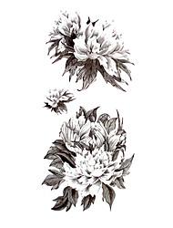 5 pièces de pivoine tatouage imperméables temporaires (18.5cm * 9cm)