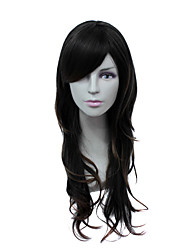 capless longo fio de alta temperatura moda marrom peruca de cabelo crespo