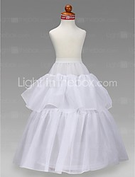 Slips A-Line Slip Ball Gown Slip Floor-length 2 Tulle Netting Taffeta White