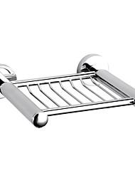 Chrome Finish Solid Brass Modern Soap Rack