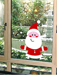 Christmas Decoration Wall Stickers Holiday Ornaments Lovely Santa Claus Snowman