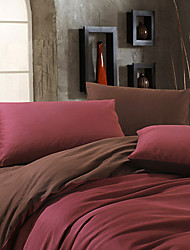 Egyptian Cotton Red Full / Queen / King 4-piece Duvet Cover Set