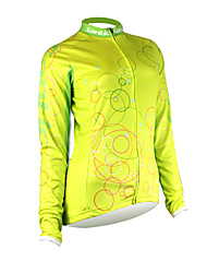 SANTIC Bike/Cycling Jersey / Tops Women's Long Sleeve Moisture Permeability / Quick Dry / Front Zipper / Wearable 100% Polyester Solid