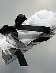 Garter Satin Organza Bowknot White Black