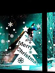decoración de la pared pegatinas vacaciones adornos de árbol de Navidad blanco
