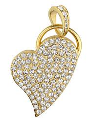 2gb a forma di cuore usb flash drive (oro)