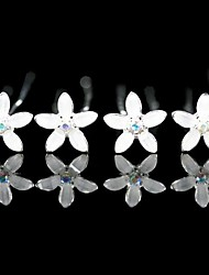 Headpieces Bridal Pins/ Flowers With Gorgeous Rhinestones 4 Pieces More Colors Available