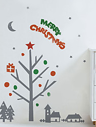 Christmas Decoration Wall Stickers Holiday Ornaments Gift on Trees