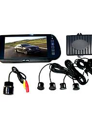 Sensores para Estacionamento Com Câmera Traseira e Monitor em Formato de Espelho Retrovisor TFT LCD de 7 Pol.