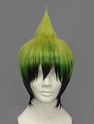 Cosplay Wigs Blue Exorcist Amaimon Green Short Anime Cosplay Wigs 30 CM Heat Resistant Fiber Male