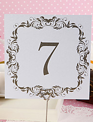 Place Cards and Holders Square Table Number Card - Homespun Elegance (set of 10)
