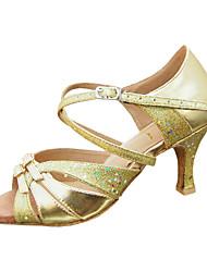 настраивать производительность танцевальная обувь из кожзаменителя / блестка верхних латинских обувь для женщин