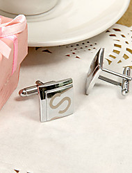 Gift Groomsman Personalized Two Square Cufflinks