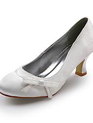 Satin oberen Mittelklasse Ferse geschlossene Zehen Abendgesellschaft Schuhe / Schuhe besonderen Anlass auch andere Farben (a0756)