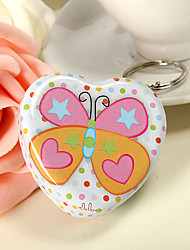 Colorful Dot and Butterfly Theme Heart Shaped Mint Tin (set of 6)