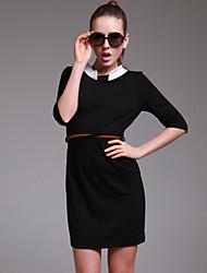 simplicité ts robe blanche revers élastique