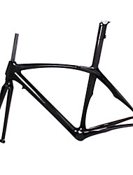 700c cheio de carbono pluma quadro de bicicleta de estrada com garfo rígido de cor selim natural integrada