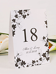 Place Cards and Holders Personalized Standing Table Number Card – Maple Branches (Set of 10)