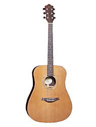 "Ella 41"" Solid Red Cedar Top Abalone Rosette Acoustic Guitar"