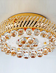 Luxuriant Crystal Semi Flush Mount with 3 Lights