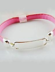 Pink Name Tag Bracelet