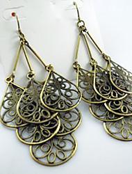 Bronze Teardrop Dangling Earrings