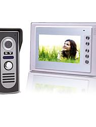 7-дюймовый цветной TFT LCD видео домофон домофон с водонепроницаемой камерой (420 твл)
