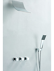 Shower Faucet - Contemporary - Waterfall / Handshower Included - Brass (Chrome)