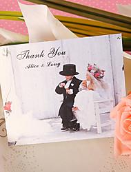Merci Cartes Invitations de mariage Carte plate Personnalisé 50 Pièce/Set