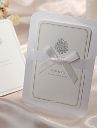 formal de estampado floral invitación de la boda doblado (juego de 50)
