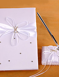 Fairytale Dream Wedding Guest Book And Pen Set With Rhinestones Sign In Book