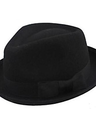 Pure Black Wool Fedor Hat