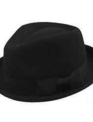 чистая шерсть черная шляпа Федора