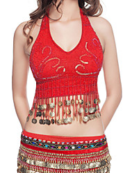 Dancewear Polyester With Gold Coin Performance Top for Ladies More Colors