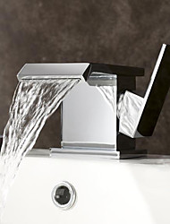 large bec contemporaine chrome cascade finition Centerset lavabo robinet