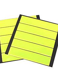 10 peças de visibilidade auto-adesivas cintas de segurança para malas de bicicleta carro
