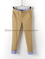 Relaxed Khaki Fold-up Pants