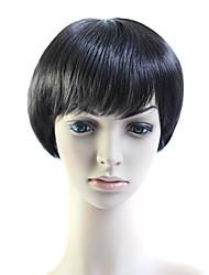 sin tapa corta de calor 100% amigable fibra natural mirada peluca de pelo