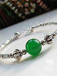 chino vendimia verde ágata pulsera