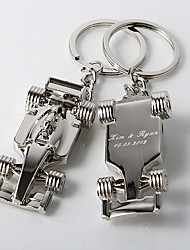 Personalized Racecar Key Ring (Set of 4)